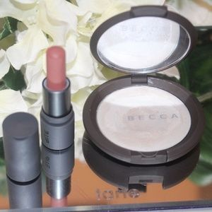 Becca poured creme highlighter + lippie